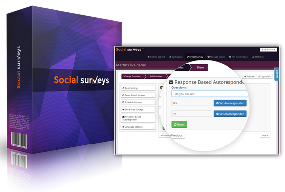 Social Surveys Software APP Instant Download!