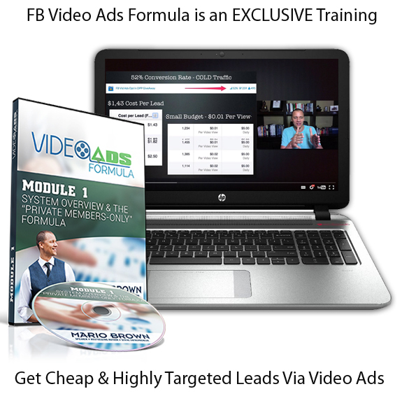 Mario Browns FB Video Ads Formula DOWNLOAD Now!!