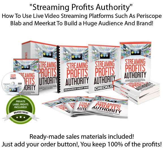 Streaming Profits Authority PLR Ready For Resell!