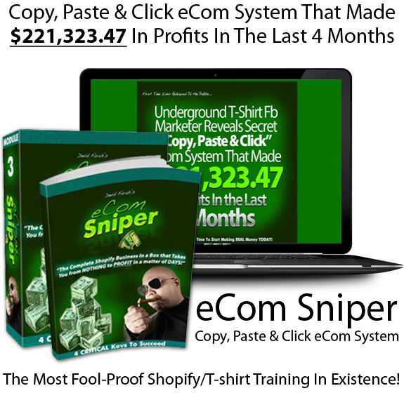 eCom Sniper By Devid Farah READY TO DOWNLOAD All Module