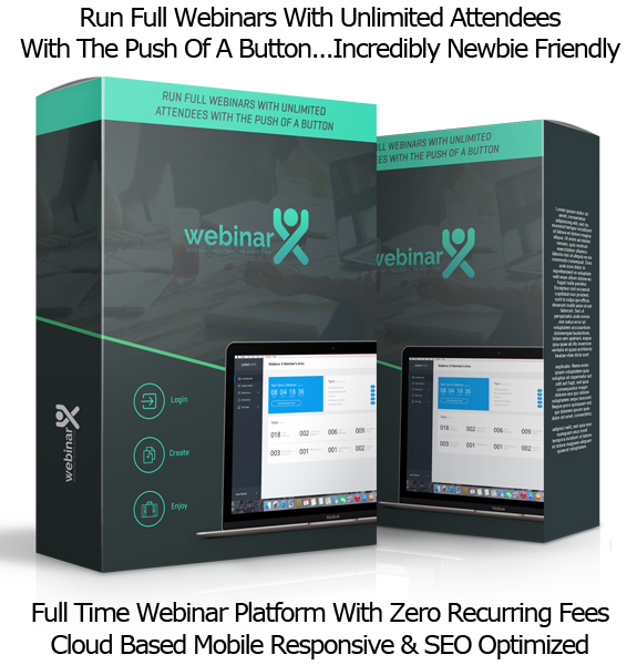 LIFETIME ACCESS Webinar X Software Pro License By Neil Napier