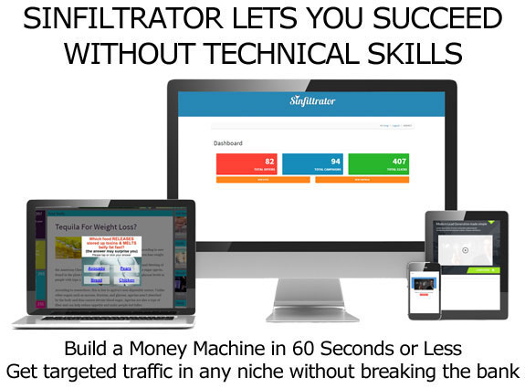 Sinfiltrator Software LIFETIME ACCESS Unlimited License!
