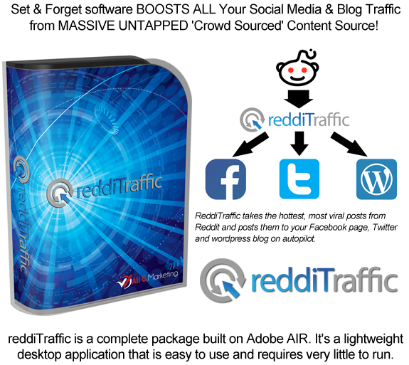 ReddiTraffic Viral Traffic Software Instant Download