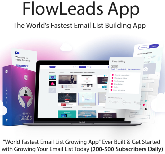 FlowLeads App Pro Pack 100% Instant Access Unlimited
