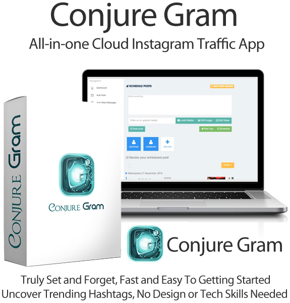 Conjure Gram Apps Pro 100% Lifetime Access Instagram Software