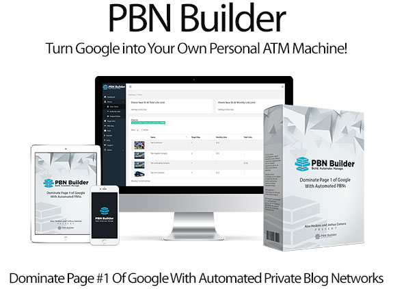 Instant Download PBN Builder Software Pro Plan Unlimited Site