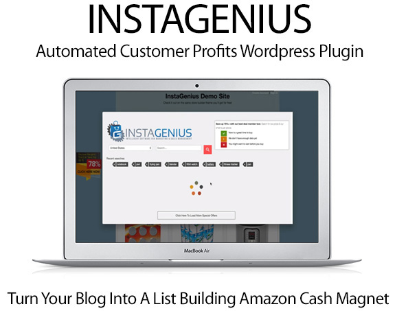 InstaGenius WordPress Plugin Pro Instant Download By Cindy Donovan
