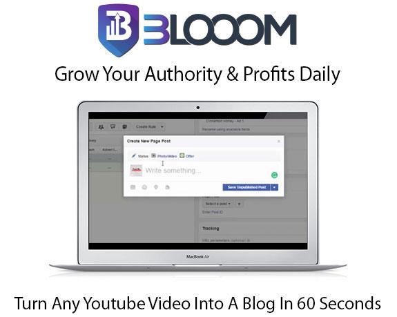Blooom WordPress Plugin Pro Instant Download By Mark Bishop