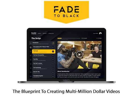 Fade To Black Video Training Instant Download By Joey Xoto